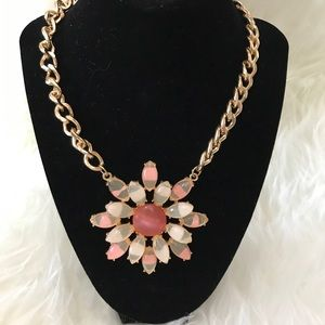 Freedom at Topshop Flower Statement Necklace